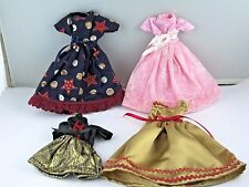 Barbie Doll Dresses 4/5 Pcs USA OKLA Made by 95 year old Lot 507 Dress Handmade