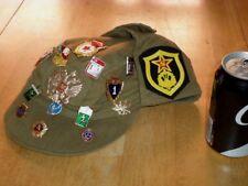 (U.S.S.R.) SOVIET UNION RUSSIAN HAT + #19 METAL PINS (AUTHENTIC),METRIC SIZE #55