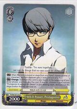 Weiss Schwarz TCG Persona 4 WILD Power Protagonist x4 P4EN-S01-012 C