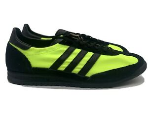 Adidas SL 72 Men's Size 12 Retro Casual Lifestyle Shoe Black Neon Yellow Sneeker