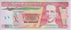 Guatemala Banknote P125  10 Quetzales 2.5. 2012 (2014) Mod. Flag, UNC
