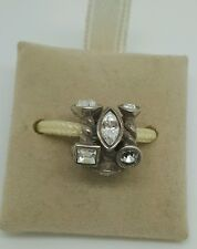AUTHENTIC NEW CHAMILIA  MARQUISE CLEAR SWAROWSKI STERLING SILVER BEAD JC-2A