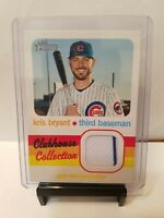 Kris Bryant 2020 Topps Heritage CLUBHOUSE COLLECTION PIN STRIPE RELIC CUBS
