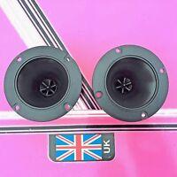 (pair) round piezo tweeters / horns 100mmx100mm round disco speakers pa ect