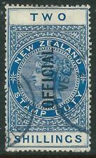NEW ZEALAND - 1925 KGV 2/- 'BLUE' Official VFU SGØ87 Cv £100 [A2714]