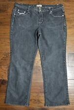 Women's Earl Straight Leg Jeans Size 16, faded black, (Inventory w30)
