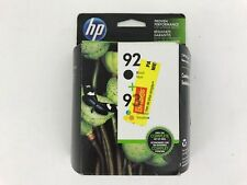 Genuine New HP 92 93 Black and Tri-color 2 Ink Cartridges Combo Pack Sep 2014