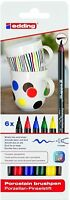 edding 4200 Porcelain Brushpen Set - Oven Bake Marker Pen Set (Ceramic Crafts)