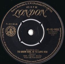 Teddy Bears ORIG OZ 45 To know him is to love him VG+ '58 London Phil Spector