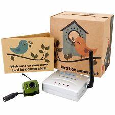 WIRELESS Uccello BOX CAMERA 700TVL & Ricevitore KIT con Visione Notturna & Audio