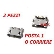 CONNETTORE RICARICA ( 2 PEZZI ) JACK MICRO USB PER Wiko Lenny 4 Plus