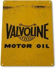 Valvoline Motor Oil Logo Garage Retro Vintage Rustic Wall Decor Metal Tin Sign