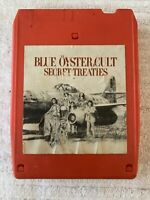 BLUE OYSTER CULT SECRET TREATIES 8 TRACK CASSETTE TAPE (TESTED, WORKS AMAZING!)