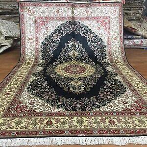 YILONG 5'x8' Medium Handmade Classic Silk Area Rugs Hand Knotted Carpets L43B