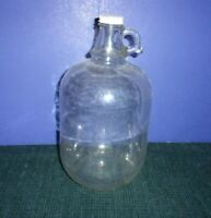 Vintage Clear Glass Bottle/Decanter - One Gallon