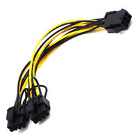 Video card 6pin to Double 8pin(6pin+2pin) connector cable extention cables&lF Pg