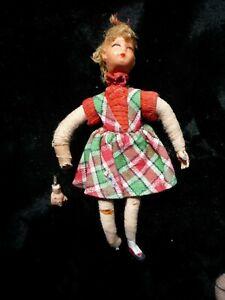 Caco, Biegepüppchen,Metall ,Puppenhaus ,  50er , Mädchen 10 cm  , Ersatzteile
