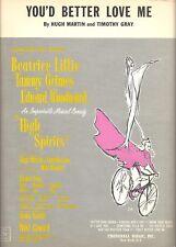 "Tammy Grimes ""HIGH SPIRITS"" Beatrice Lillie / Noel Coward 1964 Sheet Music"