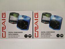 2 CRAIG DIGITAL CAMCORDER w/ CAMERA HD 720P DASH CAMERA VIDEO RECORDER NT 6763
