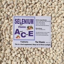 SELENIUM & Vitamins A C E.  180 Tablets    1 or 2 per day FREE POSTAGE      (L)