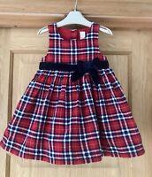 NEXT *12-18m BABY GIRLS RED TARTAN DRESS Winter XMAS 12-18 MONTHS