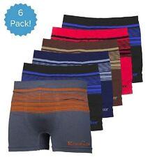 6pk Mens Seamless Boxer Briefs Shorts Microfiber Underwear #31 Knocker MS031