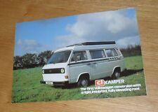 Volkswagen VW T2 CI Kamper - Camper Van / Motor Caravan Brochure 1981-1982