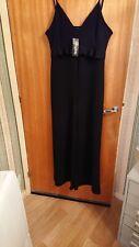 c97e15bc90b Ladies Black Plus Abbie Crepe Ruffle Waist Wide Leg Jumpsuit UK 18 NWT by  BOOHOO