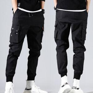 Men's Long Cargo Pant Casual Harem Hip Hop Sweatpants Jogger Plus Size