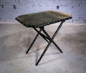 19th Century Ebonised & Gilt Faux Bamboo Folding Table. William Whiteley, London