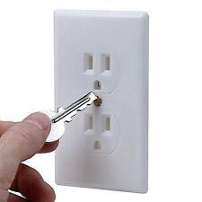 Hidden Wall Safe Secret Stash Electrical Plug Screw Key Lock Metal Small Box