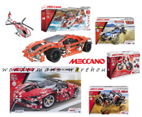 Meccano Construction Kit Sets - Cars/Helicopters & More -Brand New & Boxed