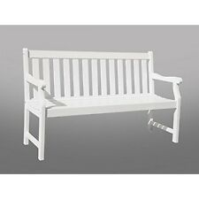 Vifah V1627 Bradley Eco-Friendly 5-Foot Outdoor White Wood Garden Bench NEW