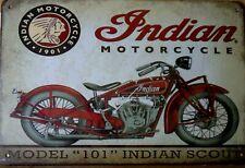 INDIAN  MOTORCYCLE   Rustic Metal Sign, Vintage Tin Shed Garage & Bar,Man Cave