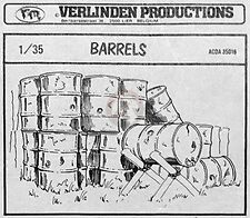 Verlinden 1/35 Barrels 200 Liter 55 Gallon Fuel Drums (6 pieces) 71 (ACDA 35016)