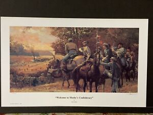 Dale Gallon -  Welcome To Mosby's Confederacy -Print - #348/950 was framed