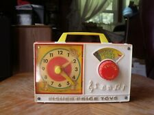 Vintage Toy 1971 FISHER PRICE HICKORY DICKORY DOCK Wind Up Clock Music Radio Box