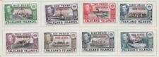 8 Falkland Islands South Georgia #3L1-3L8 MH/MLH Stamps from Antique Album 1944