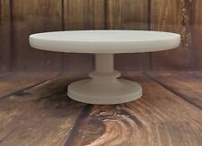10 inch  WHITE PAINTED HAND MADE  WOODEN PEDESTAL WEDDING CAKE STAND
