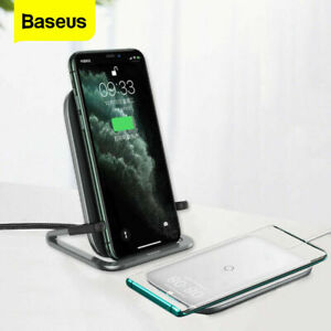 Qi Wireless Charger Charging Stand For Iphone Samsung Galaxy S8 S9 S10 iPhone 12