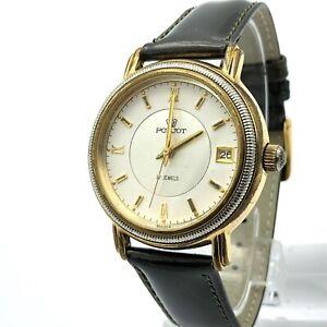 Vintage Men's Watch POLJOT Russia Date Mechanical Analog Tested Date Bicolor Old