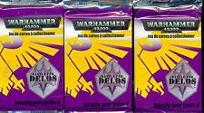WARHAMMER 40000 3 BOOSTERS BATTLE FOR DELOS  VF