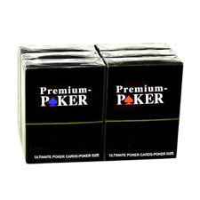 6 X PREMIUM CASINO POKER  KARTEN TOP 100% PLASTIK -GROSSER INDEX - 2