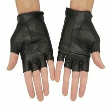 Men's Cycling Gloves Leather Half Finger Gym Gloves Running Mitts Cycle