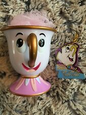 Disney Primark Chip Mug Cup Beauty and the Beast Plastic with Sponge New Xmas
