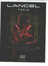 PUBLICITE ADVERTISING 2009  LANCEL sac premier flirt