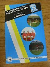 20/10/1979 Cardiff City v Chelsea (lieve/minore pieghevole)