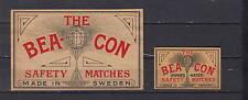 Ancienne  étiquette    allumettes Suède  AZ2478  Bea Con 3