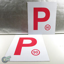 2x Magnetic Red P P1 Plate Provisional Legal Magnet Driver License, sell L too