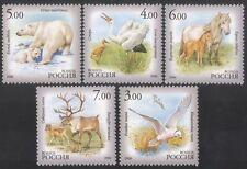 Russia 2006 Bear/Horses/Deer/Gull/Crane/Birds/Animals/Nature 5v set (n39059)